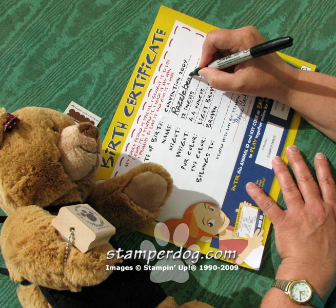 Stampin' Up! Build A Bear Adoption Ceremony