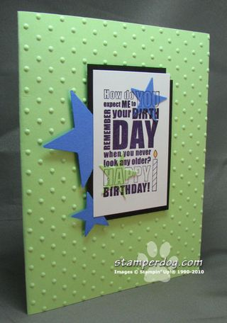 Birthday Block Spotlight Card